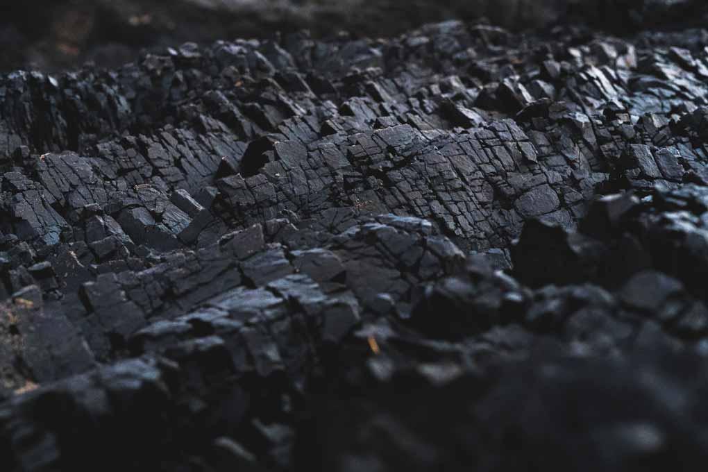 Veta de carbón. Foto de Dexter Fernandes